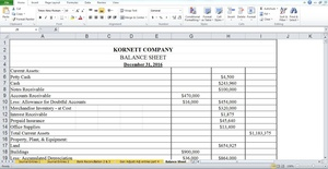 Kornett company during its first fiscal year ended December 31, 2016 were as follows