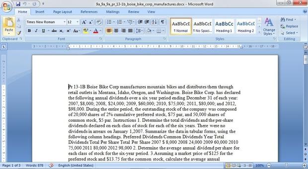 Pr 13-1B Boise Bike Corp manufactures