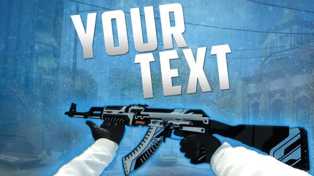 FREE CSGO AK 47 Vulcan Thumbnail Template
