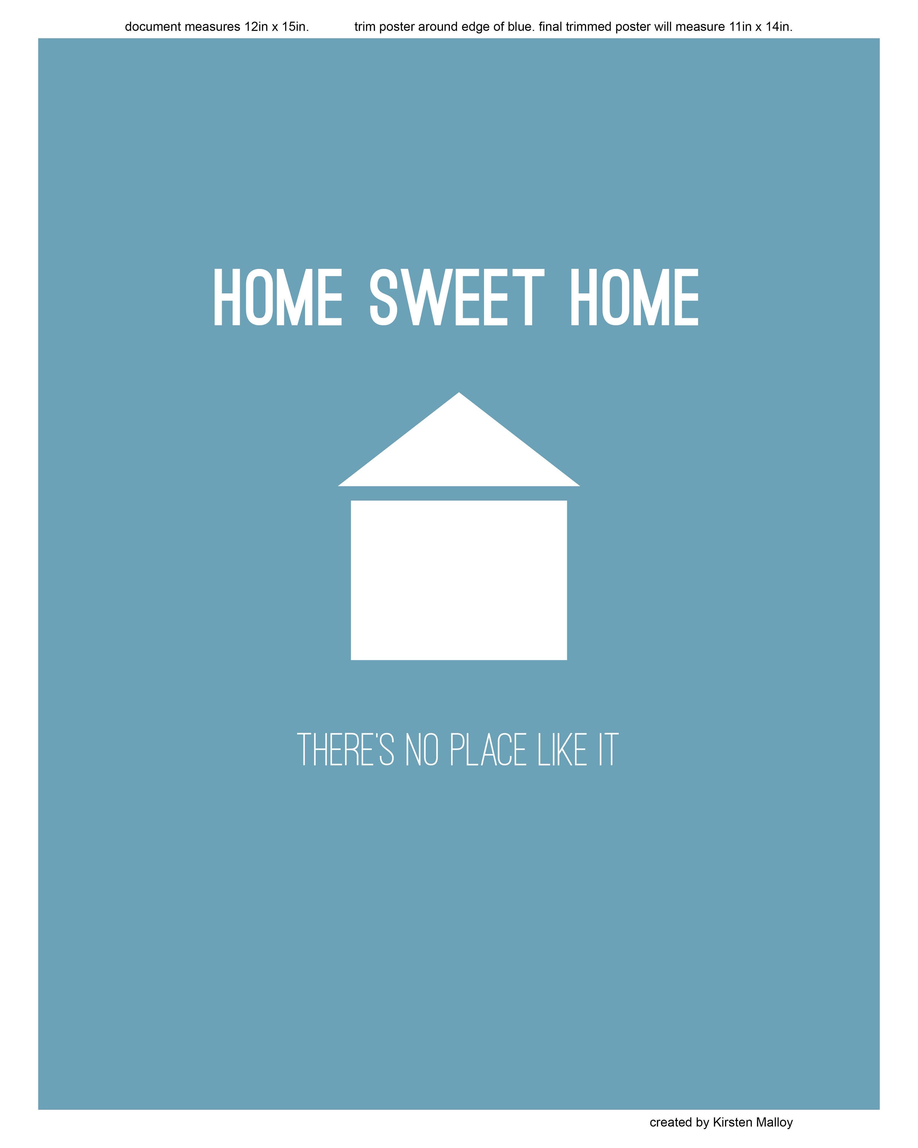 image regarding Home Sweet Home Printable identified as House Lovable Household Printable - Blue