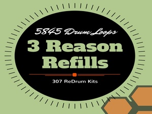 5845 Drum Loops & 307 Redrum Kits 3 Reason Refills The Phat Beat Pro Collection Flash Sale
