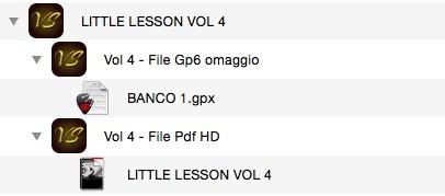LITTLE LESSON VOL 4 - Format Pdf (in omaggio file Gp6)