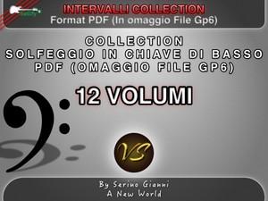 COLLECTION - SOLFEGGIO IN CHIAVE DI BASSO - PDF FORMAT (IN OMAGGIO FILE GP6)