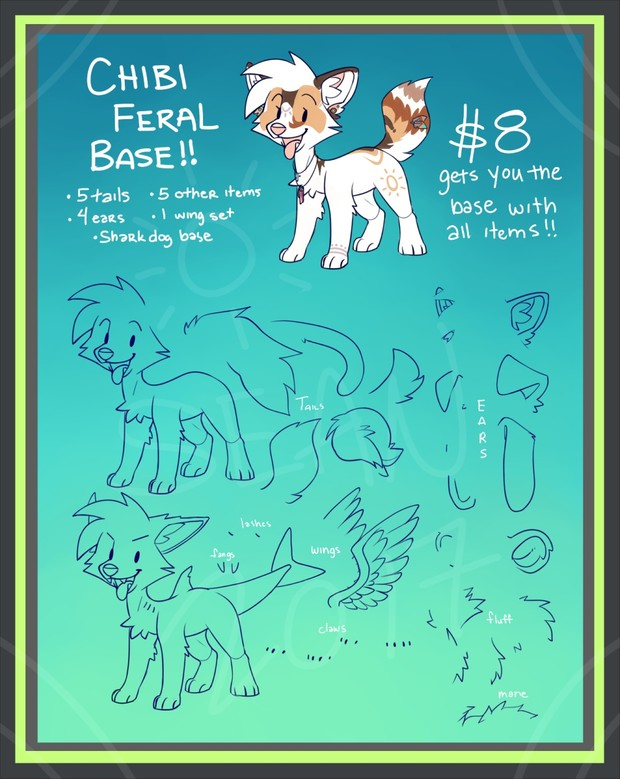 **REDUCED PRICE** Chibi Feral Base