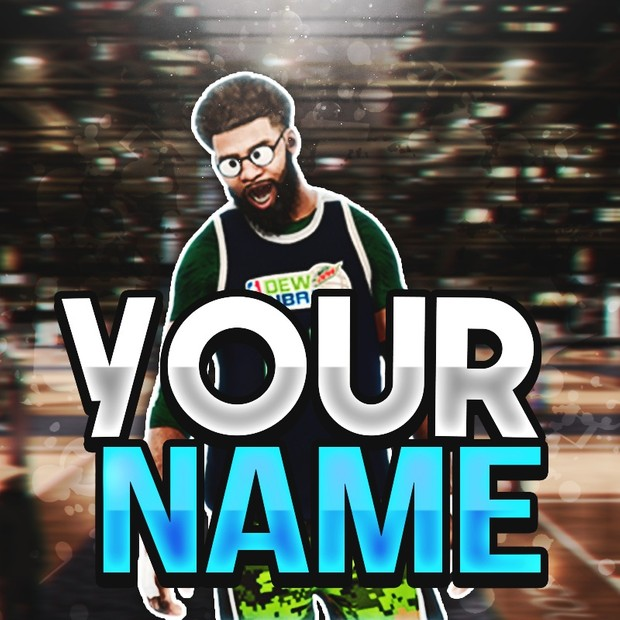 Youtube banner and profile pic template
