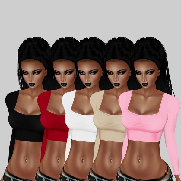 Allure Basic Tops 9 Colors png