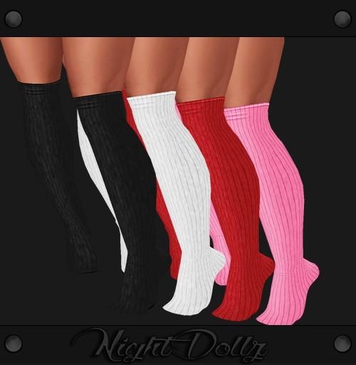 Sis3d Socks 5 Colors .png Recolor Easy.