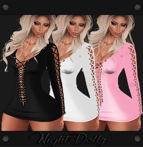 Sis3d Mini Dress 3 Colors .Png