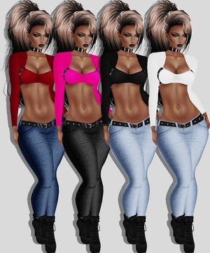 SIS3D RL MED. PNG COMES WITH 6 JEANS TEXTURES 9 TOP TEXTURES