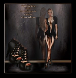 mad 107 dress +shoes