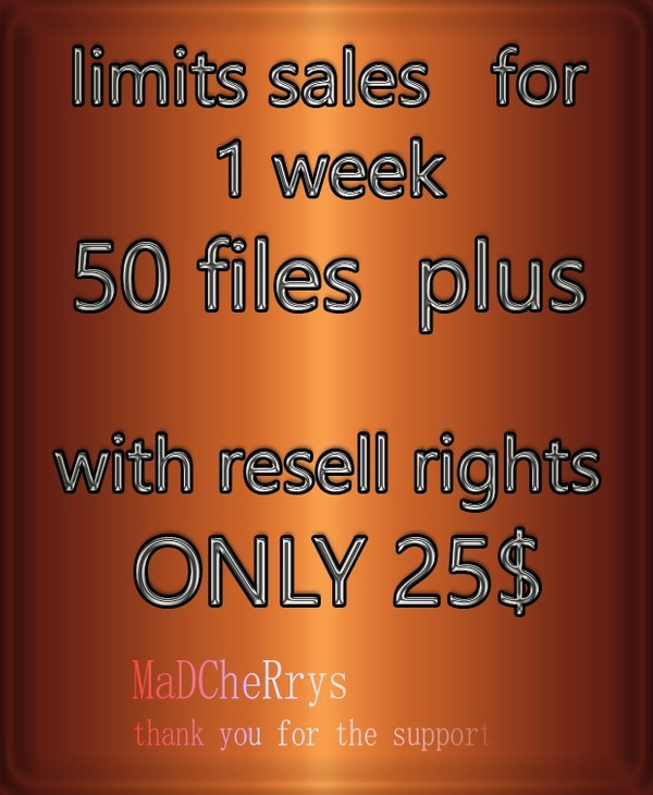 MEGA OFFER 50 + FILES WITH RESELL RIGHTS 25$
