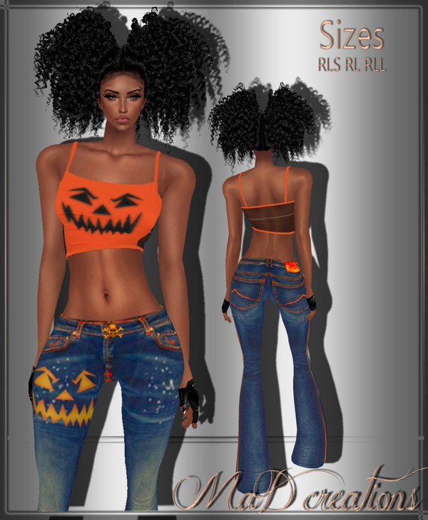 MaD Halloween Denim + Top  ONLY CATTY
