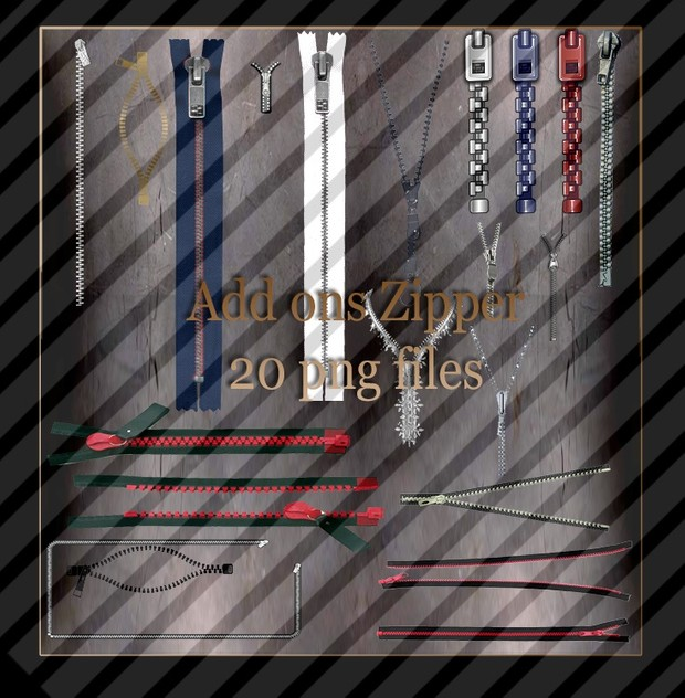 Add ons  20 zipper  png files