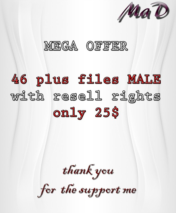MaD 46 PLUS MALE FILES WITH RESELL RIGHTS!!!