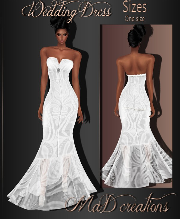MaD Wedding Dress WITH RESELL RIGHTS
