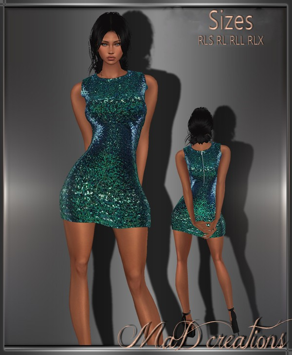 MaD Green Sexy Dress