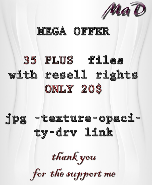 MaD MEGA OFFER 35 PLUS FILES ONLY 20$  WITH RESELL RIGHTS!!!