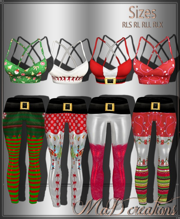MaD Xmas Sets 4 top - 4 bottoms  ONLY CATTY