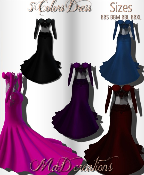 MaD 5 Colors Dress ONLY CATTY