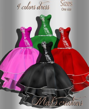 MaD 4 Colors Dress ONLY CATTY
