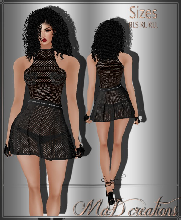 MaD Black Set top-skirt ONLY CATTY