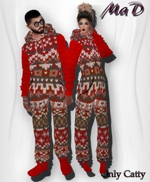 MaD Pijama Set Xmas ONLY CATTY