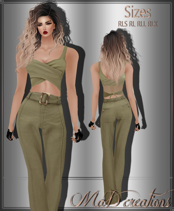 MaD Olive Top-Bottoms ONLY CATTY