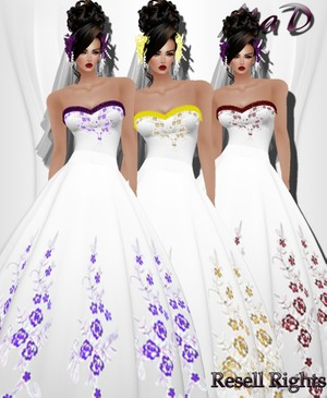 MaD Wedding Flower 3 Collors RESELL RIGHTS
