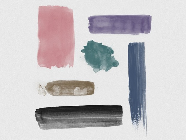 6 Watercolour Brushes for Photoshop