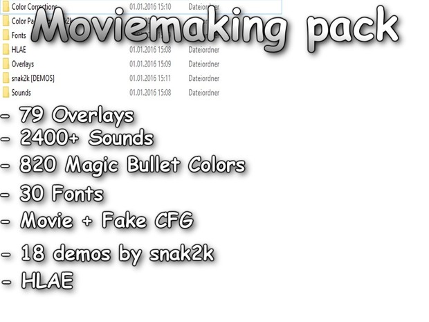 Moviemaking Pack