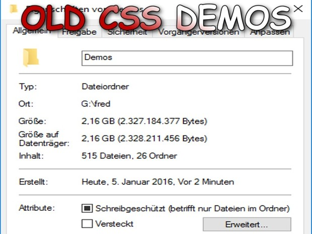 OLD CSS DEMOS PACK