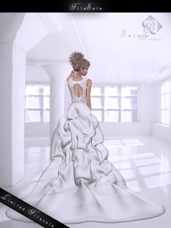 S-SUZANNE-WEDDINGDRESS - LIMITED 12 SALES!  ( 6 LEFT )