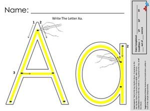 A-Z Traceable Alphabets