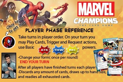 Marvel Champions Reference cards
