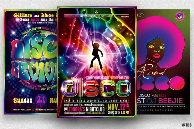 Disco Music Flyer Bundle V2