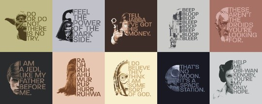 10 Star Wars Themed Fine Art Square Posters