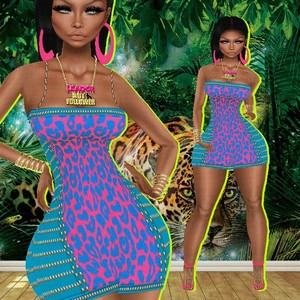 KINA DRESS AND SHOES....Bibirasta