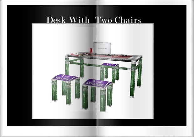 Desk with doble Chair