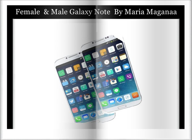 Female And  Male Galaxy Note