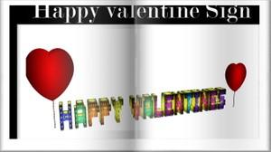 Happy valentine Sign