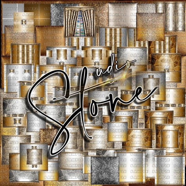 Silver & Gold textures room