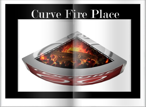 Curve Fire Place