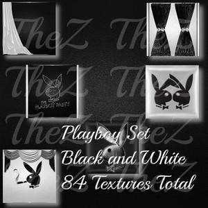 IMVU Black White Playboy Texture Set