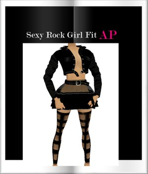 Sexy Rock girl Fit Ap