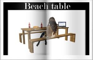 Beach table