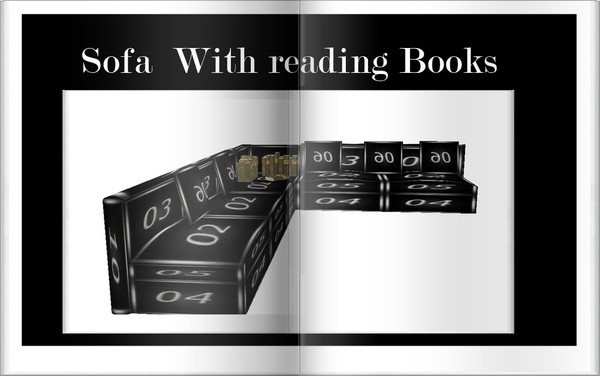 Sofa  With  Reading Books