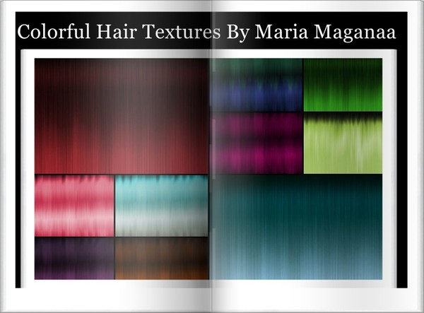 55-Colorful Hair Textures