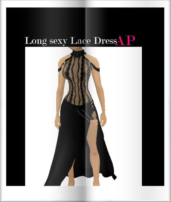 Long sexy lace dress ap