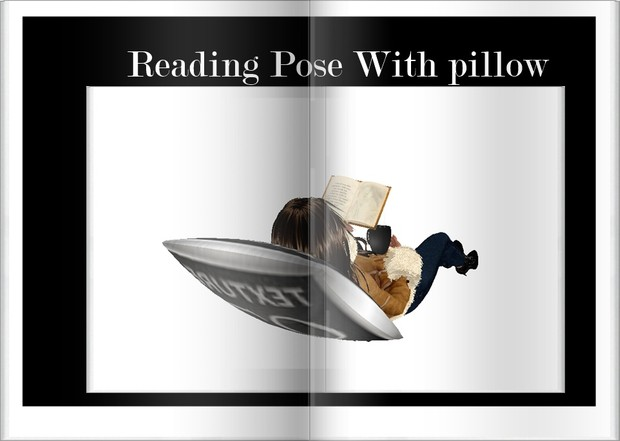 Reading Pose with pillow