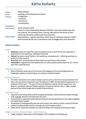 HSC Band 6 Visual Arts 6 Set Notes